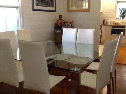nick scali dining table and 8 chairs Hawthorne Brisbane South East Preview