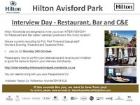 Interview Day - Restaurant, Bar and C&E - Hilton Avisford Park - Monday 24th October