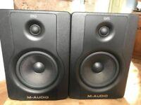 M-AUDIO BX5 Studio Monitors (Pretty much brand new)