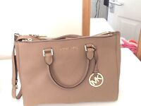 Michael Kors Large saffiano leather bag - nude - RRP £270 so grab a bargain!