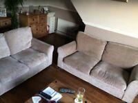 2 fabric sofas