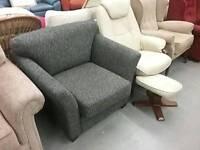 Wide armchair
