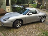 2000 PORSCHE BOXSTER 2.7 MANUAL WITH FACTORY HARDTOP and private reg. plate.