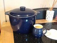 Denby casserole pot and jug