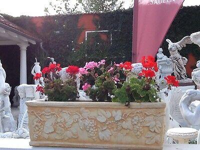 Pflanzkasten Weindekor, Skulpturen, Steinguss, Blumenkästen 22 cm Top Gartendeko