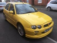 2004 MG ZR 1.4 5 door Yellow, Full Mot! half leather interior