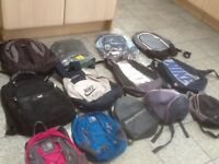 An assortment of used and 2new daypack/school size rucksacks-any rucksack is £5 each