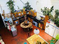 eautiful warehouse. Massive Double room for self-employed/creative. Natural Light. All inc