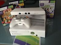 Xbox 360 with Kinect Sensor and 3 games