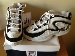 Fila-Grant-Hill-lll-white-leather-hi-top-trainers-size-8-5-new