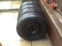 Tyres and wheels 185 x 65 r15