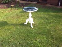 Round mirror top table
