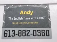 "Andy - The English ""man with a van"""