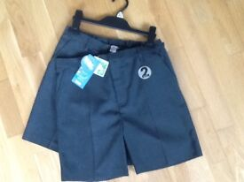 Brand new with tags grey boys school shorts age 11 x2 pairs £6!!!
