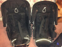I-Candy Apple to Pear double/single buggy , 2 seats 2 carry cots adaptor changing bag,