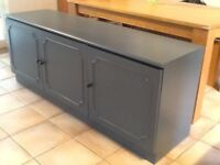 Sideboard/cupboard painted in Farrow and ball Downpipe
