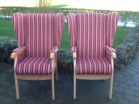 Matching high back chairs (2)