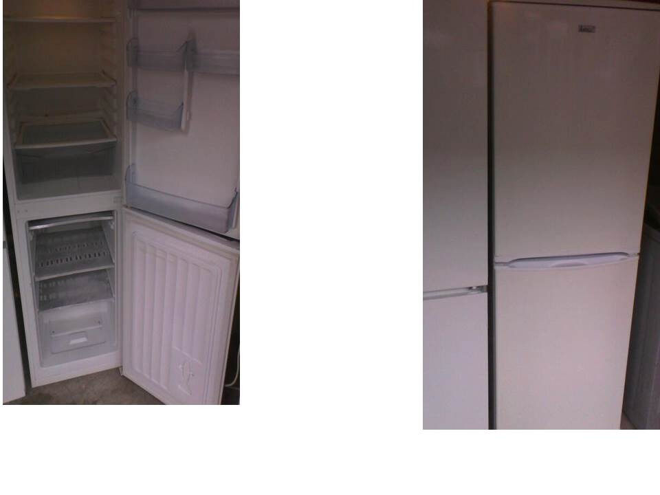 LEC FRIDGE FREEZER 62 INCHES HIGH (157cms) x 19.5 WIDE (49.5cms) CAN BE SEEN WORKING PLZ RING ONLY