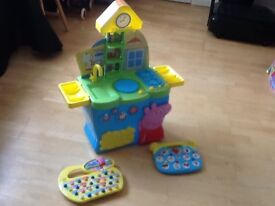 PLAY KITCHEN AND TWO OTHER PEPPA PIG TOYS