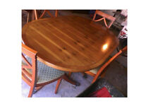 PLEASE RING OR TEXT FIRST PLEASE Lovely solid wood dining table with 4 chairs SIZE/DETAILS BELOW