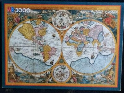 Used, ^Discovery World Map, 3000 piece jigsaw for sale  Shipping to Nigeria