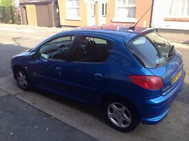 Peugeot 206 Verve Blue 2006 Five door. Perfect condition, selling as car is not used.