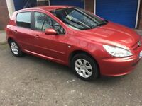 PEUGEOT 307 1.4 PETROL 5 DOOR MOT 11/2018 CHEAP ON FUEL AND INSURANCE NEED SERVICE CAR START& DRIVE