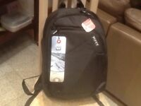 "Brand new/unused-opened only to photograph-backpack for upto 15.6"" laptop-has waterproof raincover"