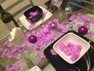 Rose Petals Lilac Purple, Wedding Day Gift Basket Decoration. 250 Petals x