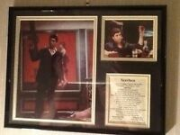 Tony Montana (Scarface) limited edition framed picture
