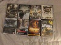8 WAR DVDs