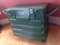 Heavy duty military tool box,stamped dated 1945,like new.