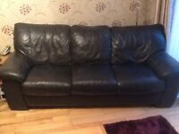 Leather sofa and chair free ,only needs collecting