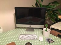 Mid 2011 21.5 inch iMac Desktop Computer with Wireless Keyboard and Mouse