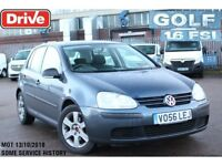 **GOOD HISTORY** 2006 VW GOLF 1.6s FSI AUTOMATIC 5 DOOR HATCHBACK **LONG MOT+AMAZING DRIVE**