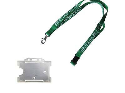 Lanyard  First Responder with ID Holder- Ambulance EMT Paramedic Medic Community