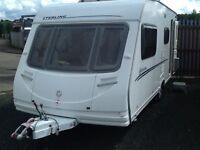 2007 sterling Europa 520/4 berth end changing room with fitted mover & awning