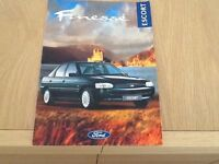 Ford Escort Finesse Model UK Sale Brochure Rare & Collectable