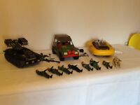 Action force vehicles and figures