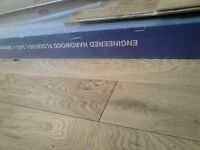 REDUCED! New Pack Engineered Hardwood Flooring Rustic Grade Oak 14mmx150mmx190mm covers 2.28sqm