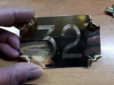 targa Porta numero civico Ottone scegli misura targhetta pergamena artiginale xx