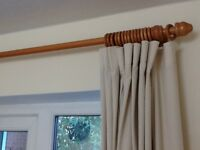 9ft wooden curtain pole