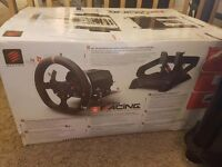 Mad catz pro racing steering wheel and Pedals