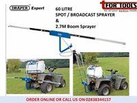 Draper Expert 60L 12V DC ATV Spot / Broadcast Sprayer & 2.7M Boom Sprayer