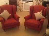 Wingback armchairs x 2 Linda Barker