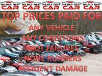 TOP MONEY PAID FOR UNWANTED SCRAP CARS VEHICLE NONE RUNNERS MOT FAILURES