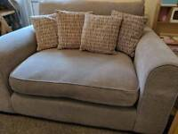 Dfs 2 seater sofa and cuddler chair