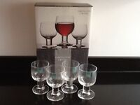 Brand New 4 x Dartington Port Glasses