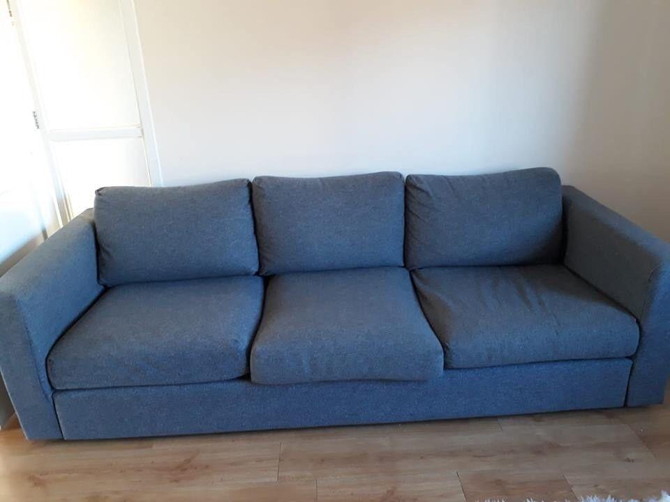 3 Seater Ikea Sofa 1 Year Old Vimle Model In Gunnard Grey In