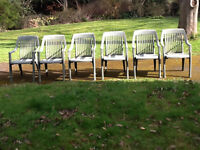 Garden furniture set - table and six chairs